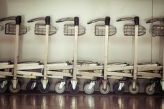 Trolley in airport Royalty Free Stock Photos