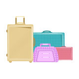 Trolley bags. Illustration of trolley bags on white background stock illustration