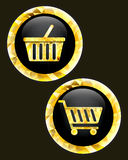 Trolley and basket  icon. Stock Photography