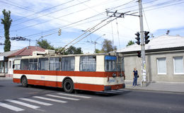 Trolley bus royalty free stock photo