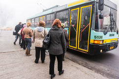 Trolley bus in Bucharest Royalty Free Stock Images
