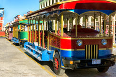 Trolley Bus in Campeche, Mexico Royalty Free Stock Photography