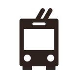 Trolley bus icon Royalty Free Stock Photos