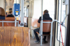 Trolley bus interior Royalty Free Stock Photo
