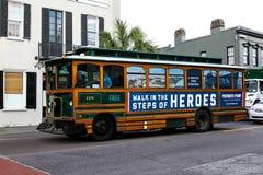 Trolley Bus Transportation, Charleston, SC. Royalty Free Stock Image