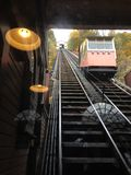 Trolley car incline. Duquesne incline , Pittsburgh pa , abstract design in the photo Stock Photography