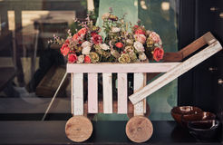 Trolley Cart flowers Royalty Free Stock Photos