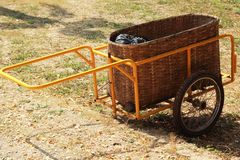 Trolley cart junk - for trash Stock Images
