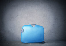 Trolley case. Light blue trolley case Royalty Free Stock Images
