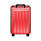 Trolley case isolated on white. Background Royalty Free Stock Photos