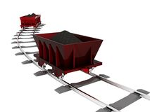 Trolley with coal Stock Photography