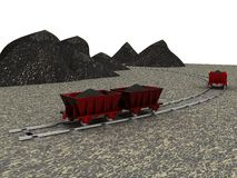 Trolley with coal Royalty Free Stock Photography