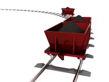 Trolley with coal Royalty Free Stock Photos