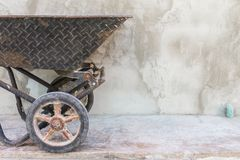 Trolley for construction in site building area - Construction in. Dustry concept Royalty Free Stock Photos
