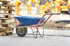Trolley on construction site Royalty Free Stock Photos