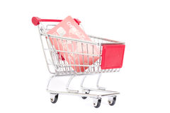 Trolley and credit card Royalty Free Stock Photo