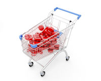 Trolley Discount on a white Royalty Free Stock Photography