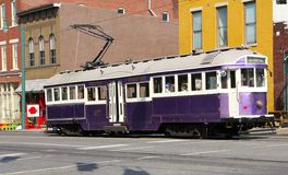 Trolley in Downtown Memphis, Tennessee Royalty Free Stock Photo