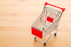 Trolley. Empty mini Trolley on the table Royalty Free Stock Image