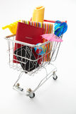 Trolley full of holiday items Stock Images