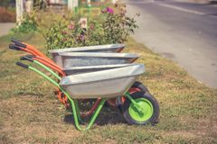 Trolley for garbage royalty free stock image