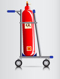 Trolley and a gas cylinder Stock Image