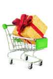 Trolley with gift Stock Photos