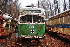 Trolley graveyard Stock Photography