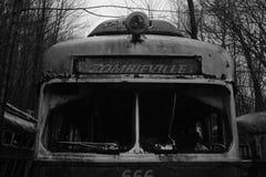 Trolley graveyard zombieville Stock Photography
