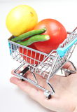 Trolley in hand Royalty Free Stock Images