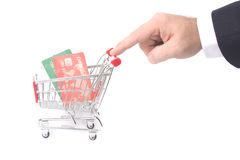 Trolley and hand royalty free stock images