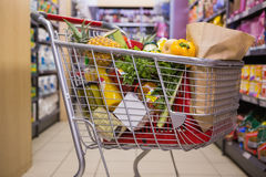 A trolley with healthy food Stock Photos