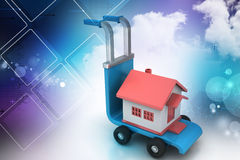 Trolley with house Stock Image
