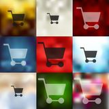 Trolley icon on blurred background Royalty Free Stock Photo