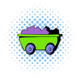 Trolley icon, comics style Stock Image