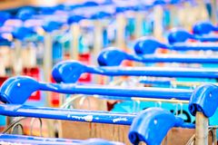 Trolley for luggage Stock Photos