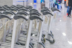 Trolley for luggage or baggage in the airports Royalty Free Stock Photos