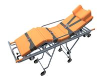 Trolley medic isolated on white 3d rendering. Trolley medic isolated on white. 3d rendering royalty free illustration