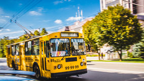 Trolley in motion! Royalty Free Stock Photos