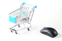 Trolley and mouse Royalty Free Stock Images