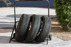 Trolley With New Tires Royalty Free Stock Photos