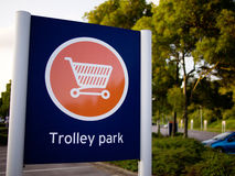 Trolley Park sign stock photography