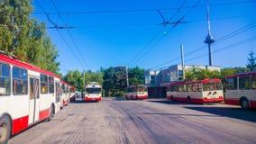 Trolley park, Vilnius Stock Photography
