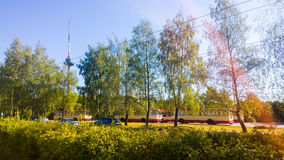 Trolley park, Vilnius Royalty Free Stock Photography