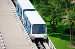 Trolley people mover tram at airport Stock Photo