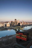 Trolley in Pittsburgh Stock Photos