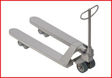 Trolley platform flat  3d Royalty Free Stock Images