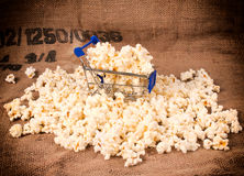 Trolley and pop corn Stock Photography