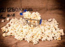 Trolley and pop corn Stock Images