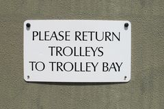 Trolley Return Sign Royalty Free Stock Images